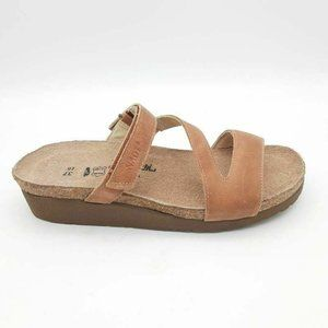 Naot Gabriela Slides Sandals Latte Brown EU 37
